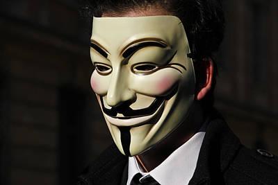 Revolt Digital Art - Anonymous 1 by Laurence Debeaux