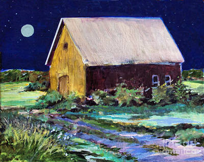Painting - Another Barn Painting by Diane Ursin