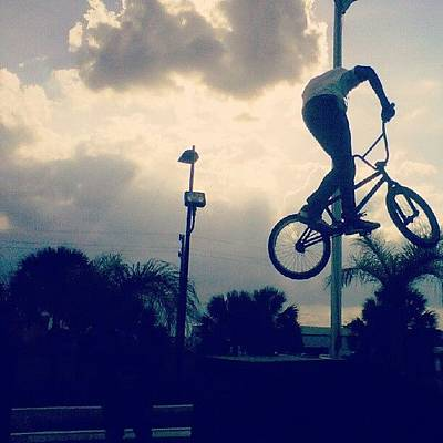Freestyle Photograph - Another Bmx Stunt Capture... #air by Jose Urena