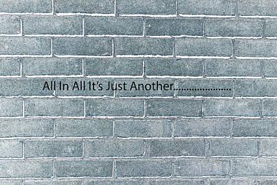 Another Brick Art Print