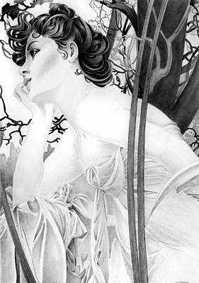 Mucha Drawing - Another By Alphonse by Lyle Brown