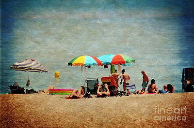 Towel Digital Art - Another Day At The Beach by Mary Machare