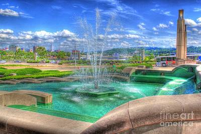 Photograph - Another Photo Of Fountain At Cincinnati Museum Center by Jeremy Lankford
