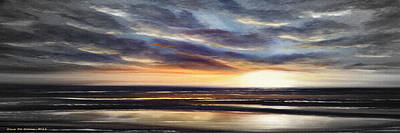 Painting - Another Sunset In Paradise - Panoramic by Gina De Gorna