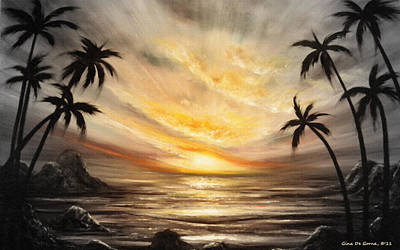 Painting - Another Sunset In Paradise 677 by Gina De Gorna