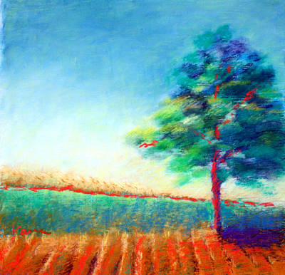 Painting - Another Tree In A Field by Karin Eisermann