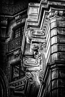 Ansonia Building Detail 1 Art Print by Val Black Russian Tourchin