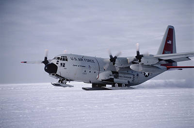 Antarctic Airfield Art Print by David Vaughan