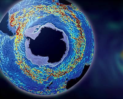 Antarctic Ocean Current, Computer Model Art Print