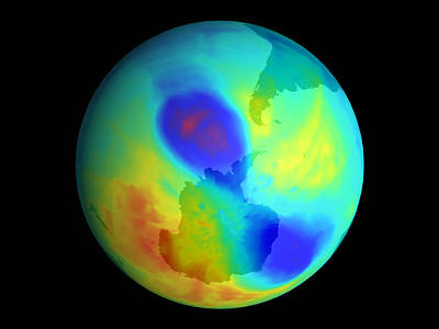 Antarctic Ozone Hole, September 2002 Art Print by Nasa