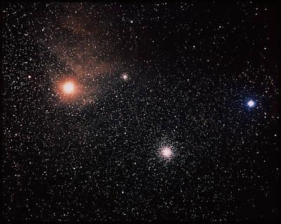 Star Evolution Photograph - Antares & Starfield by Luke Dodd