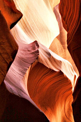 Antelope Canyon - Abstract Swirls And Waves Art Print