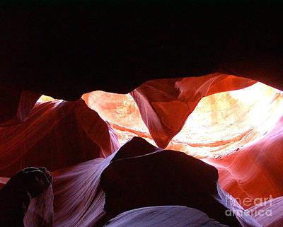 Photograph - Antelope Slot Canyon Astounding Range Of Colors by Merton Allen