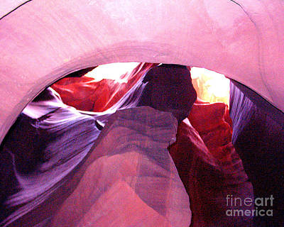 Antelope Slot Canyon Looking Up A Chimney Art Print by Merton Allen