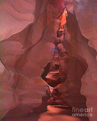 Photograph - Antelope Slot Canyon The Spirits Have All Left The Canyon by Merton Allen