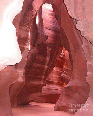 Photograph - Antelope Slot Canyon View Just Inside Entrance by Merton Allen