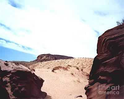 Photograph - Antelope Slot Canyon View Of Desert Beyond Exit by Merton Allen