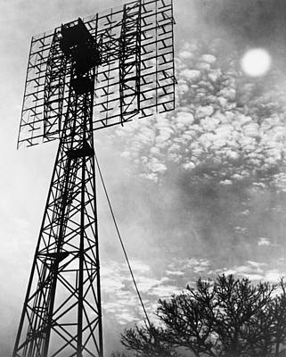 20st Century Photograph - Antenna Tower From Which The First by Everett