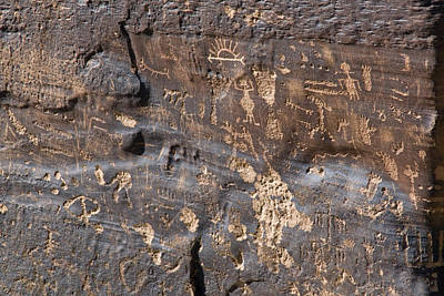 Newspaper Rock Photograph - Anthropomorphic, Zoomorphic by Rich Reid