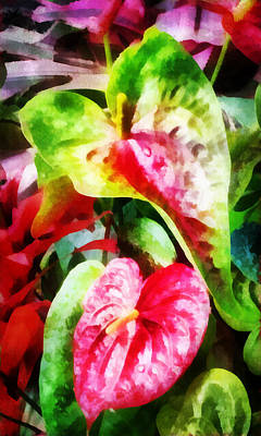 Digital Art - Anthurium by Francesa Miller