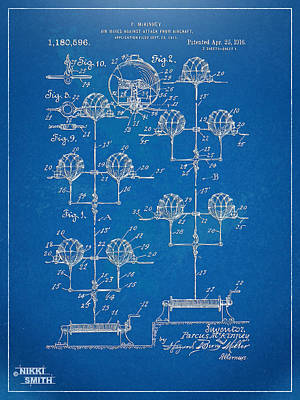 Anti-aircraft Air Mines Patent Artwork 1916 Art Print by Nikki Marie Smith