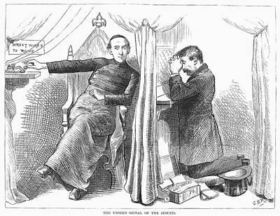 Confessions Photograph - Anti-catholic Cartoon, 1873 by Granger