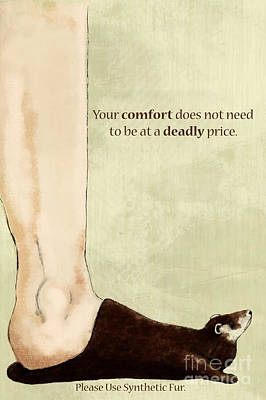 Anti-fur Art Print by Lara Ekblad