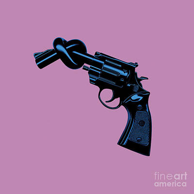 Anti Gun Art Print by Tim Bird