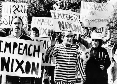 Anti-nixon Demonstrators At The White Art Print by Everett