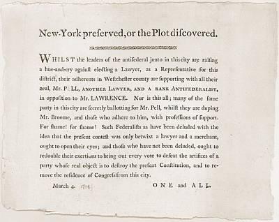 Anti-republican Broadside Of March 4 Art Print