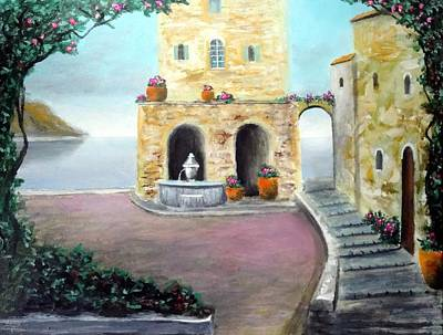 Antica Villa Sul Mare Art Print