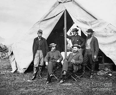 George Littlefield Photograph - Antietam: Officials, 1862 by Granger