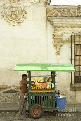 Photograph - Antigua Fruit Vendor by John  Mitchell