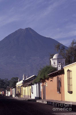 Photograph - Antigua Street With Volcano by John  Mitchell