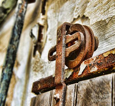 Rusty Door Photograph - Antique - Door Rail - Rusty by Paul Ward