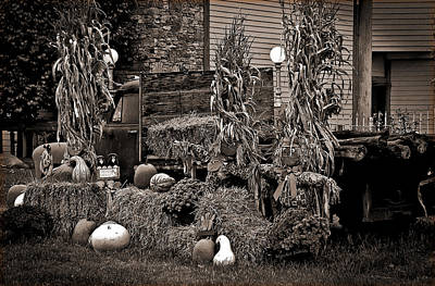 Hayride Photograph - Antique Autumn by DigiArt Diaries by Vicky B Fuller