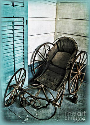 Photograph - Antique Baby Carriage by Joan  Minchak