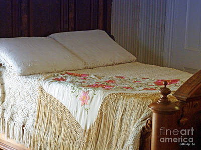 Antique Bed Art Print by Methune Hively