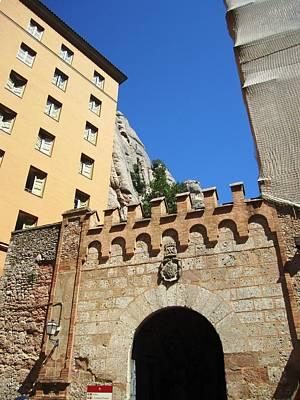 Photograph - Antique Brick Entry Montserrat Monastery Gate Near Barcelona Spain by John Shiron