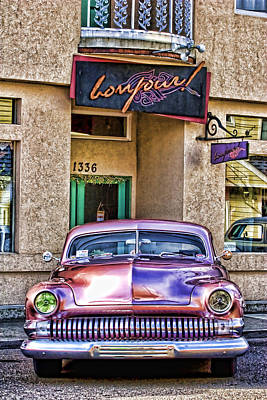 Pink Hot Rod Photograph - Antique Car by Carol Leigh
