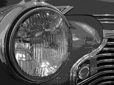 Antique Car Close-up 002 Art Print