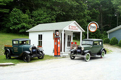 Tydol Gas  - Antique Cars by Ted Kinsman