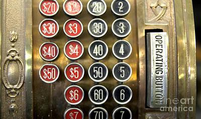 50 Cent Photograph - Antique Cash Register by Glennis Siverson