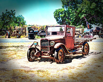 Photograph - Antique Chevy Truck by William Havle