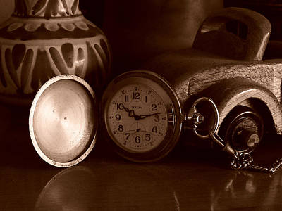 Balck And White Photograph - Antique Clock by Alessandro Della Pietra