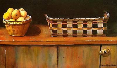 Painting - Antique Cupboard by Susan Elise Shiebler