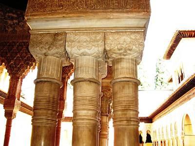 Photograph - Antique Elegant Columns Granada Spain by John Shiron