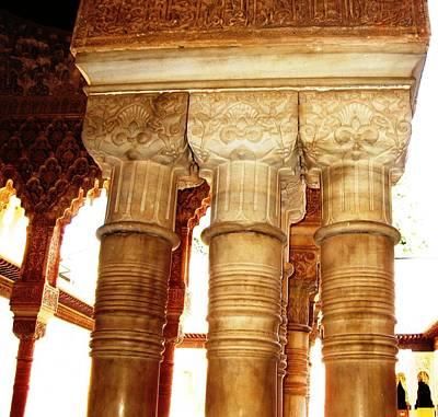 Photograph - Antique Elegant Columns II Granada Spain by John Shiron