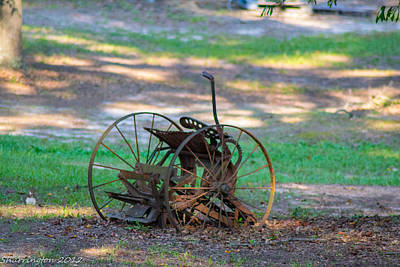 Photograph - Antique Farm Equipment by Shannon Harrington