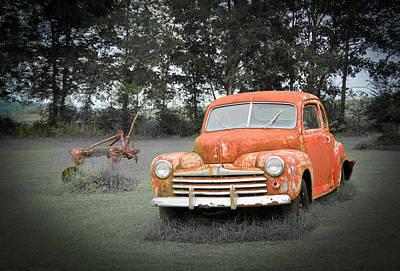 Thomas Kinkade Rights Managed Images - Antique Ford Car 7 Royalty-Free Image by Douglas Barnett